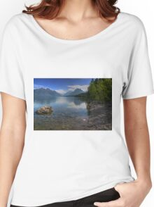 Glacier National Park Lake and Mountains Women's Relaxed Fit T-Shirt
