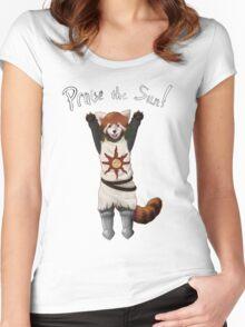 Sun Warrior Red Panda! Women's Fitted Scoop T-Shirt