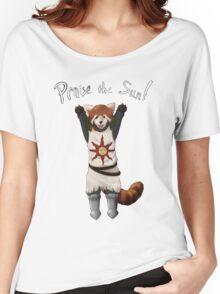 Sun Warrior Red Panda! Women's Relaxed Fit T-Shirt