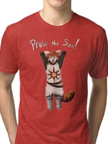 Sun Warrior Red Panda! Tri-blend T-Shirt