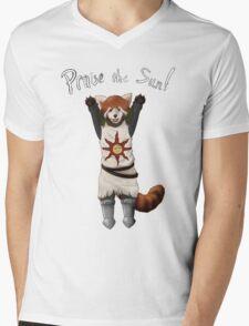 Sun Warrior Red Panda! Mens V-Neck T-Shirt