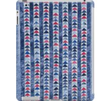 Flying Geese Quilt In Red, White And Blue iPad Case/Skin
