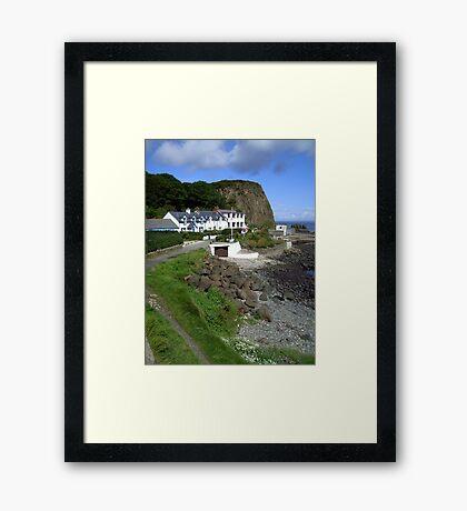 Port of the salmon - Portbradden, Northern Ireland Framed Print