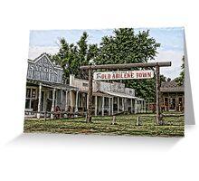 Old Abilene Town Greeting Card