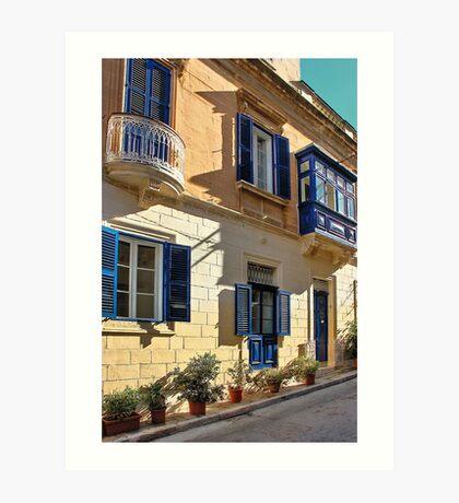 A Maltese Town House Art Print