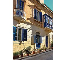 A Maltese Town House Photographic Print
