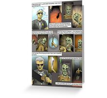 Hugo [plays with zombies] - page 1 Greeting Card