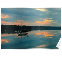 Sailboat, Coast of Maine Poster