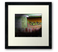 Garage Graffiti Framed Print