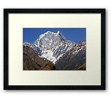 Nilgiri South - The Himalayas - Nepal Framed Print