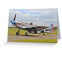 P-51K Mustang 44-12016 N98CF Greeting Card