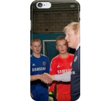 Boris Johnson Mayor Of London  At Millwall football club iPhone Case/Skin