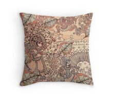 lord Rama and demon kalamkari Throw Pillow