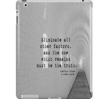 Truth Sherlock Holmes iPad Case/Skin