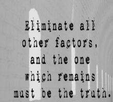 Truth Sherlock Holmes Sticker