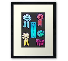 Award For The First Loser Framed Print