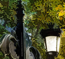 Sweet, Old-Fashioned Streetlights - Impressions of Fall Sticker