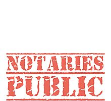 8th Day Notaries Public T-shirt Photographic Print