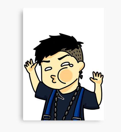Jackson Wang Got7 funny face Canvas Print