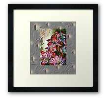 Red Lilies Fantasy Framed Print