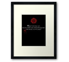 Raise Hell Framed Print