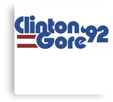 Clinton Gore 1992 Canvas Print