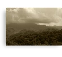 Stormy Mountain Top Canvas Print