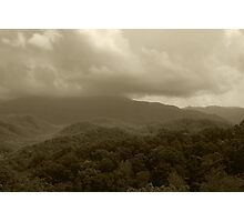 Stormy Mountain Top Photographic Print