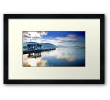 Lake Wörthersee in Winter Framed Print
