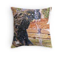 Mermaid Fountain  Throw Pillow