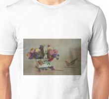 Everlasting flowers in vase with butterfly Unisex T-Shirt