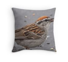 LavenderMoon Birdie Cafe Throw Pillow