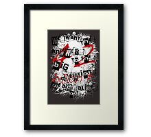 the redemption of a hitchhiker Framed Print