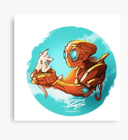robo and puppy!  Canvas Print