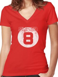 Super 8 Women's Fitted V-Neck T-Shirt