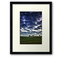 Misty Linslade Morning (Portrait HDR) Framed Print