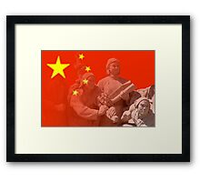 Statue to the people Framed Print
