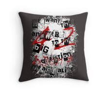 the redemption of a hitchhiker Throw Pillow