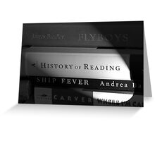 Book Light Greeting Card