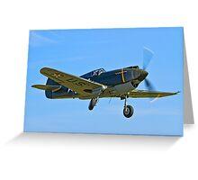 P-40B Warhawk 41-13297 G-CDWH Greeting Card