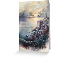 The Ligurian coast (Italy) Greeting Card