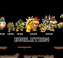 The Evolution of Bowser by BowserBasher