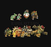 The Evolution of Bowser Kids Tee