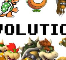 The Evolution of Bowser Sticker