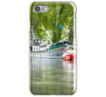 Three boats by the canal iPhone Case/Skin