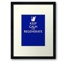 Dr Who - Keep Calm And Regenerate Framed Print