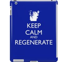 Dr Who - Keep Calm And Regenerate iPad Case/Skin