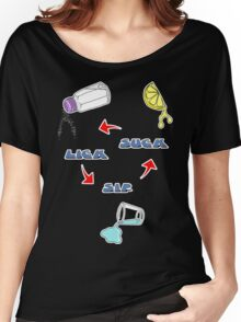 Lick, Sip, Suck - with instructions Women's Relaxed Fit T-Shirt