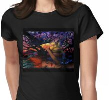 Night Raven  Womens Fitted T-Shirt