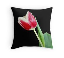 Single Tulip Bloom Throw Pillow